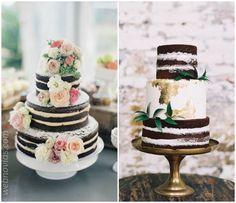 Tartas de boda de chocolate ¡no podrás resistirte!