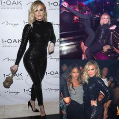 Turn Up! #KhloeKardashian parties at Las Vegas' #1Oak Nightclub inside #TheMirage with birthday besties #MalikaHaaq and her twin sister #KhadijahHaaq. Also spotted there was #Diddy's girl #Cassie.