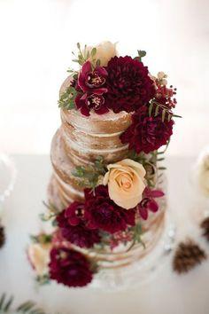 Burgundy Wedding Cake Inspiration.