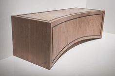 La Curva media cabinet. In Oak with ebony detail.