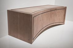 La Curva media cabinet. In Oak with ebony detail.