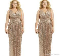 Free shipping, $113.83/Piece:buy wholesale 2015 Sexy Plus Size Mother of the Bride Dresses Gold Sequin V-Neck Floor Length Evening Gowns Formal Prom Groom Bridal Mother Dress Custom from DHgate.com,get worldwide delivery and buyer protection service.