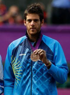 Juan Martín del Potro, medalla de bronce en Tenis juegos olímpicos de Londres 2012.