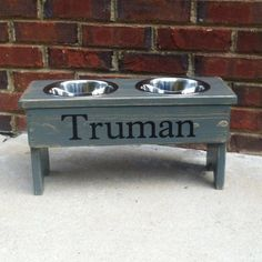 Hey, I found this really awesome Etsy listing at https://www.etsy.com/listing/170481450/elevated-dog-bowl-stand-personalized-9