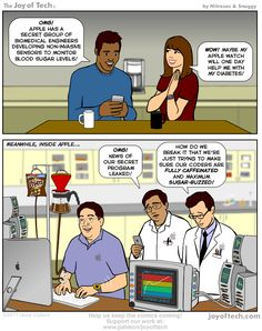 Heard of Apple's blood monitor program? Here's the REAL reason why they started it! #comic #humor #joyoftech  via http://mte.gs/TV-Iu
