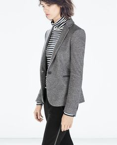 Image 4 of BLAZER WITH ELBOW PATCHES from Zara