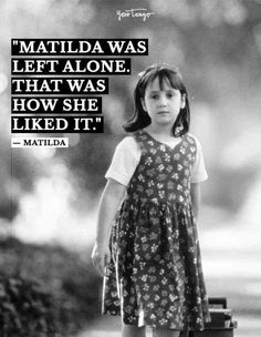 """Matilda was left alone. Famous 90s Movies, Famous Movie Quotes, Good Movies, Left Alone Quotes, Matilda Quotes, Matilda Movie, Alone Movies, Classic Movie Quotes, Disney Channel Movies"