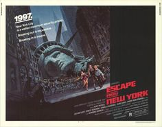 1997 Escape from New York original movie poster.