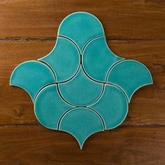 Our Ogee Drops in a Moroccan pattern in Azurine. Both this color and shape were popular this year, which is your favorite shape or color? #handmade #tiles #pattern