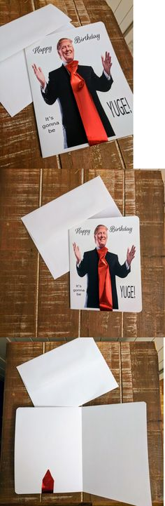 Greeting Cards and Gift Tags 146324: Funny Handmade Trump Birthday Card Its Gonna Be Yuge Trump Birthday Usa -> BUY IT NOW ONLY: $230 on eBay!