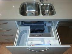 Under-sink drawer #blum Under Sink Drawer, Kitchen Storage, Storage Ideas, Drawers, Home, Organization Ideas, Ad Home, Drawer, Homes