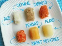 Cooking in Batches, then Freezing Homemade Baby Food is a great way to save time and money!