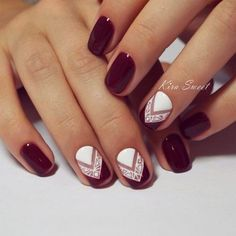 New Trendy Burgundy Nail Ideas picture 3