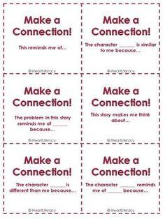 Reading Comprehension Sentence Starter Cards - Free