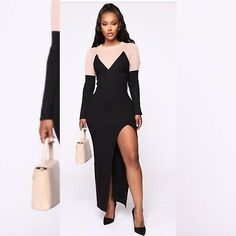 Heat Up The Block Sweater Maxi Dress - Black/combo – Fashion Nova Sexy Maxi Dress, Lace Maxi, White Maxi Dresses, Maxi Wrap Dress, Black Dress With Sleeves, Long Sleeve Floral Dress, Dress Black, Choker Dress, Club Party Dresses