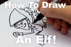 How to draw a crazy Christmas elf! -- 2nd grade quick art lesson--might need this next week.