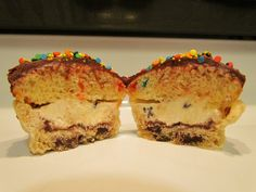 Every dessert baked into one    This is a pie crust with a chocolate chip cookie baked in to the bottom, a layer of frosting, a layer of ice cream, a layer of cake, more frosting, and some sprinkles. Wow, what a mouthful…