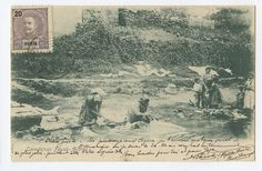 Portugal AZORES Ethnic Lavadeiras Acores Fayal old 1900s postcard