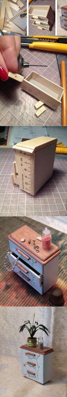 Как из обычных линеек сделать симпатичный кукольный комодик - Ярмарка Мастеров - ручная работа, handmade