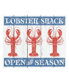 Look what I found on #zulily! 'Lobster Shack' Wall Art #zulilyfinds