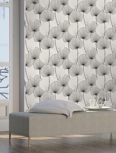 Graham&Brown ELLE-behang grafisch bladerpatroon | ELLE Decoration NL