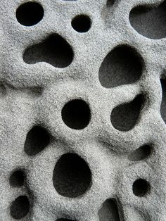 Weathered sandstone at Pebble Beach. Natural Shapes, Organic Shapes, Patterns In Nature, Textures Patterns, Organic Structure, Belleza Natural, Nature Images, Abstract Landscape, Trypophobia