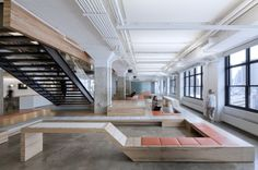 Horizon Media Office by a+i architecture.  Super cool office space with a lot of great amenities.  (from archdaily.com)