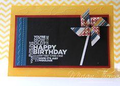 Pinwheel card by Miriam Thomas