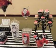 black and white red engagement party ideas - Google Search