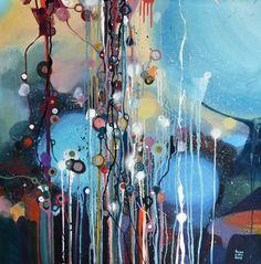"""Saatchi Online Artist: Lilla Kuizs; Oil 2013 Painting """"Morning rain - Sold"""""""