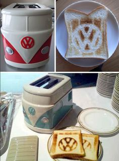 The Volkswagen Hippie Minibus Toaster Via Jay Mug How cool this toaster? This is an original item from Volkswagen Japan. This is a must for every fan of VW's breakfast table. Volkswagen Bus, Vw T1 Camper, Vw Caravan, Volkswagon Van, Vw T4, Camper Life, Vw Hippie Van, Combi Vw T2, Vw Minibus