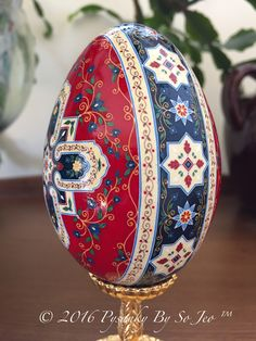 Persian Rug Series: Kashan Bazaar batik Easter Egg
