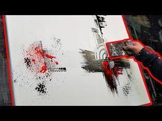 Comment peindre un tableau abstrait à l'acrylique - Framecode - YouTube
