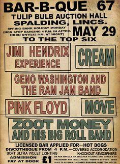 A evolução dos cartazes de shows de rock dos anos 60, 70, 80 e 90. Clique e veja outras imagens no Blog.