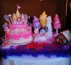 candyland cake table