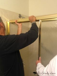 Remove Sliding Shower Doors Via Life On Shady Lane