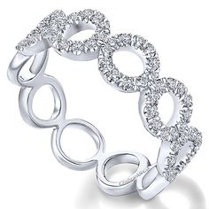 a3a0e99f5 14k White Gold Stackable Ladies' Ring angle 3 Fashion Jewelry, Fashion  Rings, Stackable