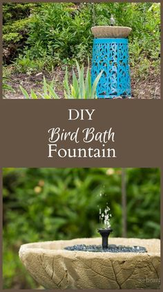 Learn how to make a beautiful leaf embossed concrete fountain that also doubles as a bird bath. A pretty and functional piece for the garden.