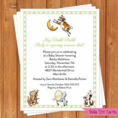 Hey Diddle Diddle Baby Shower Invitations by BellaChiCards on Etsy
