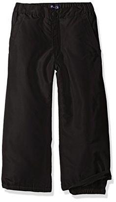 The Children's Place Girls' Big Girls' Snow Pant, Black, 12. Elasticized waist. Adjustable front pockets. Button zipper fly.