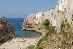 Polignano's residents love their beach and so do we!