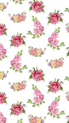 New Wallpaper Iphone, Retro Wallpaper, Cellphone Wallpaper, Pattern Floral, Flower Patterns, Flower Designs, Vintage Flowers Wallpaper, Flower Wallpaper, Flower Prints
