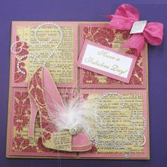 Pink MME Shoe - Chloes creative cards