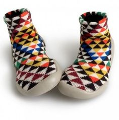 Collegien wool slippers with rubber soles, £19.99, Kidsen. Love the geometric design on these French slipper socks.