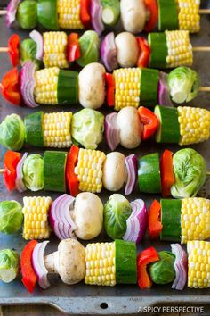 Grilled Vegetable Kabobs with Fajita Butter How to Make Grilled Fajita Vegetable Skewers Skewer Recipes, Veggie Recipes, Vegetarian Recipes, Healthy Recipes, Veggie Food, Grilled Chicken Recipes, Grilled Vegetable Kabobs, Grilled Vegetables, Vegetable Skewers Bbq