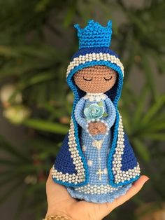 Crochet Girls, Free Crochet, Crochet Hats, Crochet Patterns Amigurumi, Amigurumi Doll, Christmas Nativity, Crochet Projects, Religion, Angel