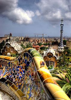 Views from Park Güell, Barcelona, Spain