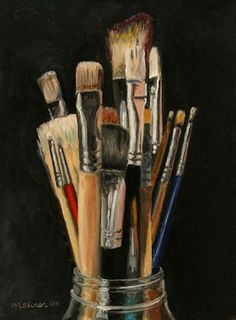 A Painting A Day: Miniature Masterpieces - Small original oil paintings by Darren Maurer: April 2006 Still Life Drawing, Painting Still Life, Hyperrealism Paintings, Still Life Artists, Artist Materials, Oil Painting For Sale, Painting Tips, Mini Paintings, High Art
