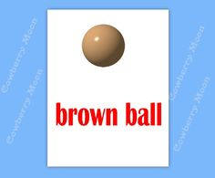 "Teach Baby to Read Book ""brown ball"" Page Instant Download,Homeschool Book ""brown ball"" Page,Learn To Read Printable  Page,Flashcards by CowberryMoon on Etsy"