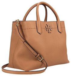 87c276f8ba85 Tory Burch Baguette Mcgraw Triple Compartment Tan Leather Satchel. Save 3%  on the Tory. Tradesy